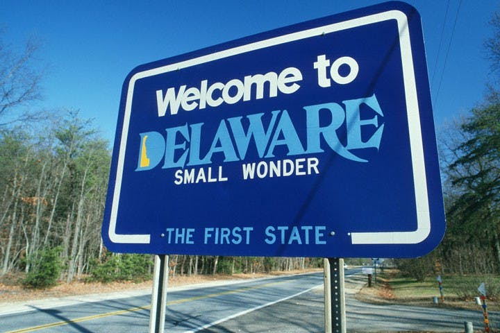 Our company is based in Delaware but we might never go there for our entire life.